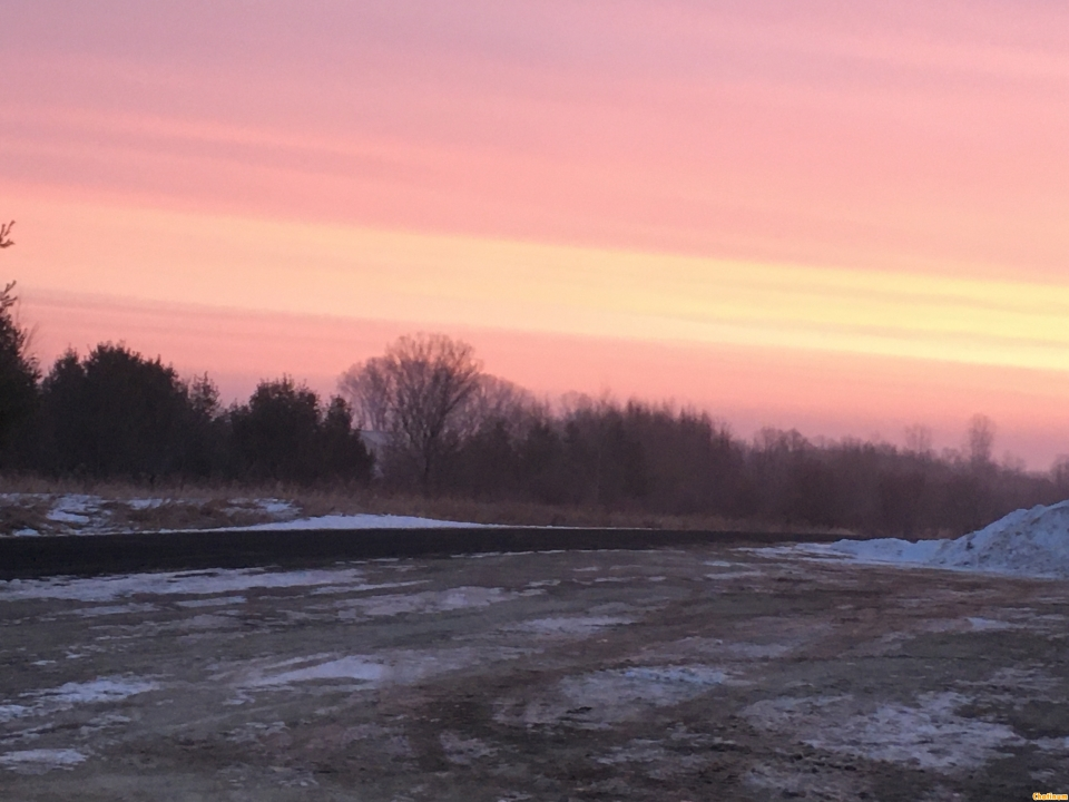 """This mornings Wisconsin sunrise was to beautiful not to share! Unless your a sailor and there's truth in the saying """" pink sky's in the morning sailors take warning, pink skies at night sailors delight"""""""